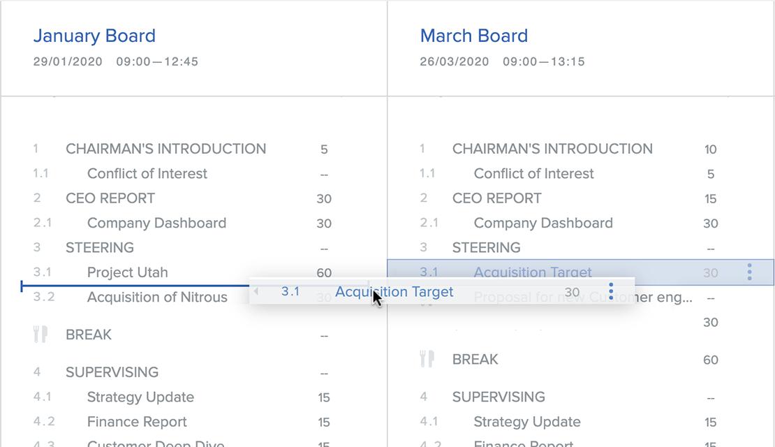 Manage multiple meetings