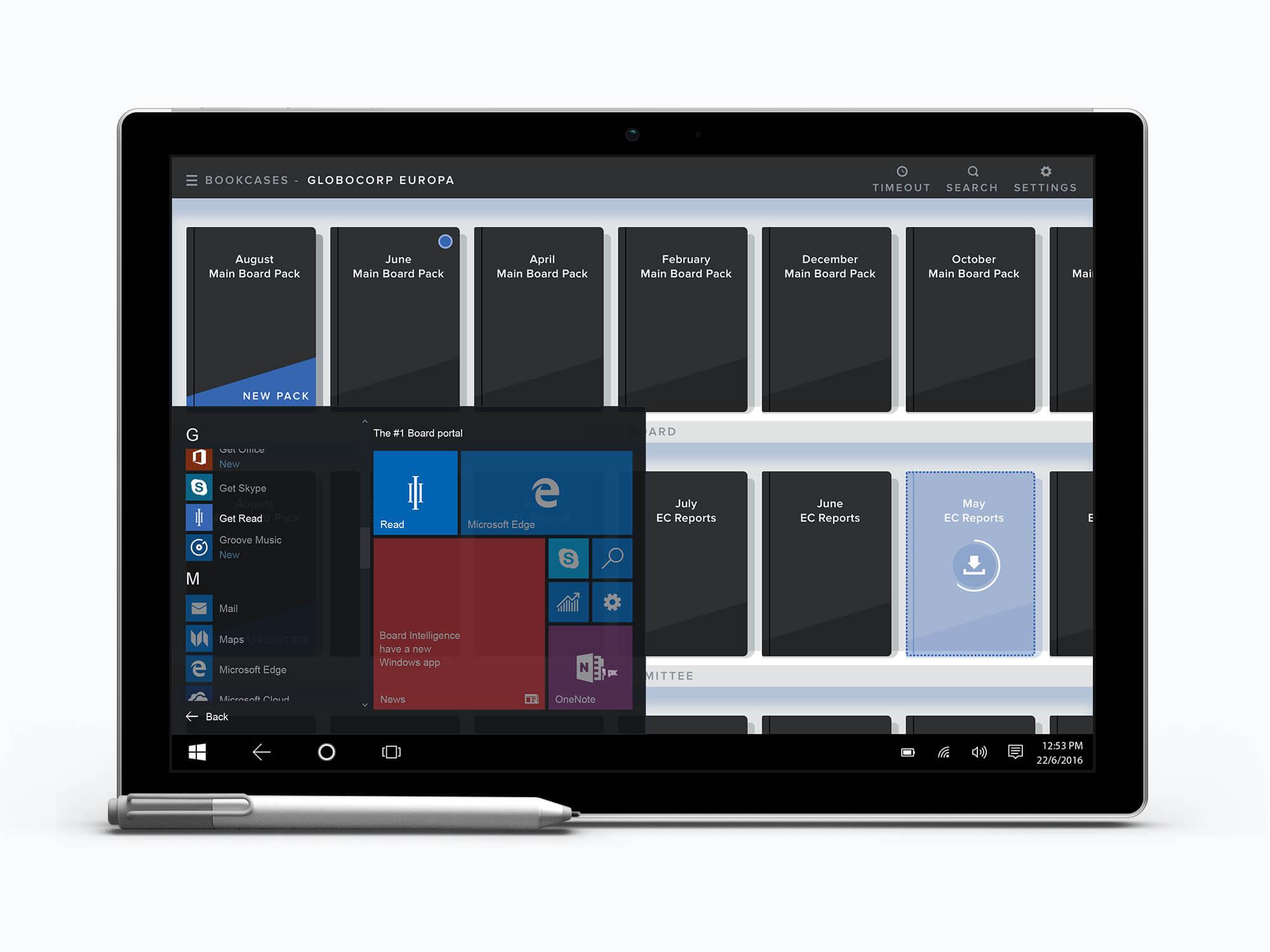 Windows 10 board portal